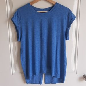Lululemon Blue Box It Out Short Sleeve Top Size 6